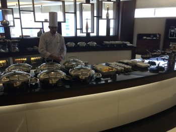 Etihad Premium Lounge Abu Dhabi buffet