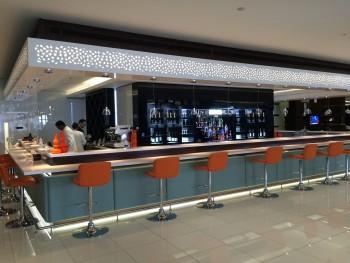 Etihad Premium Lounge Abu Dhabi bar