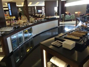 Etihad Premium Lounge Abu Dhabi buffet 2