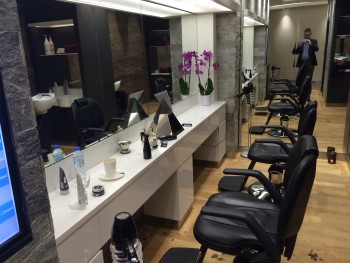 Etihad Premium Lounge Abu Dhabi review barber