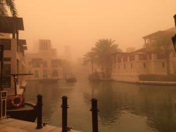 Madinat Jumeirah sandstorm