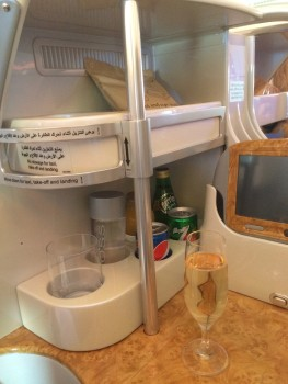 Emirates A380 business class review minibar