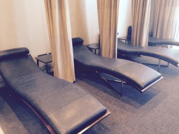 United First Class lounge Heathrow Terminal 2 day beds