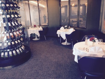 United First Class lounge Heathrow Terminal 2 dining