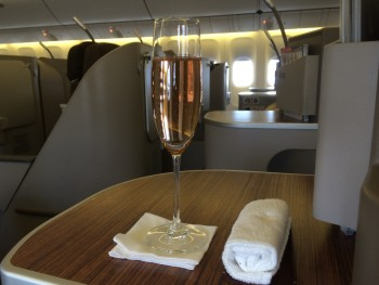Garuda Indonesia Boeing 777 business class seat