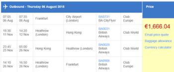 BA Hong Kong screenshot