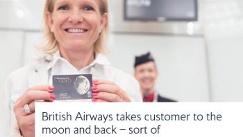 British Airways moon card