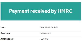 HMRC screenshot
