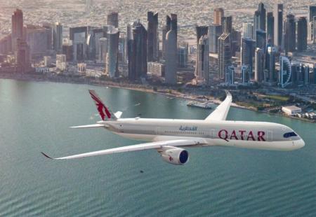 Qatar Airways A350 Manchester