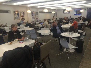 British Airways Galleries Club lounge Heathrow Terminal 3