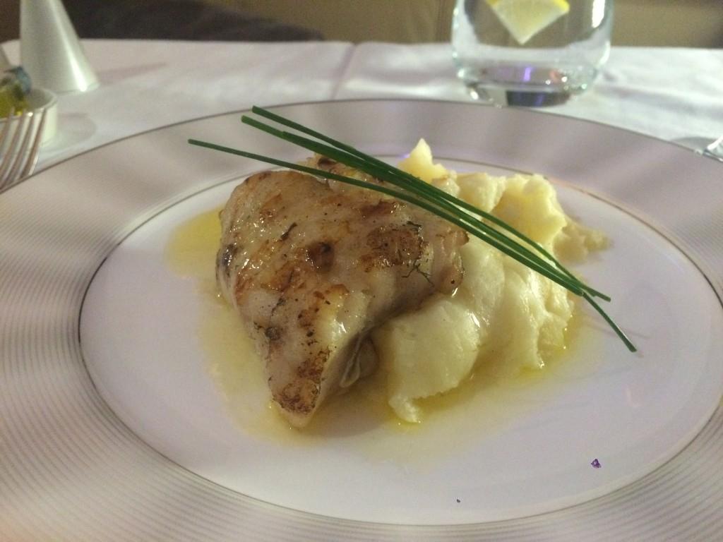 Etihad A380 First Class Apartment food