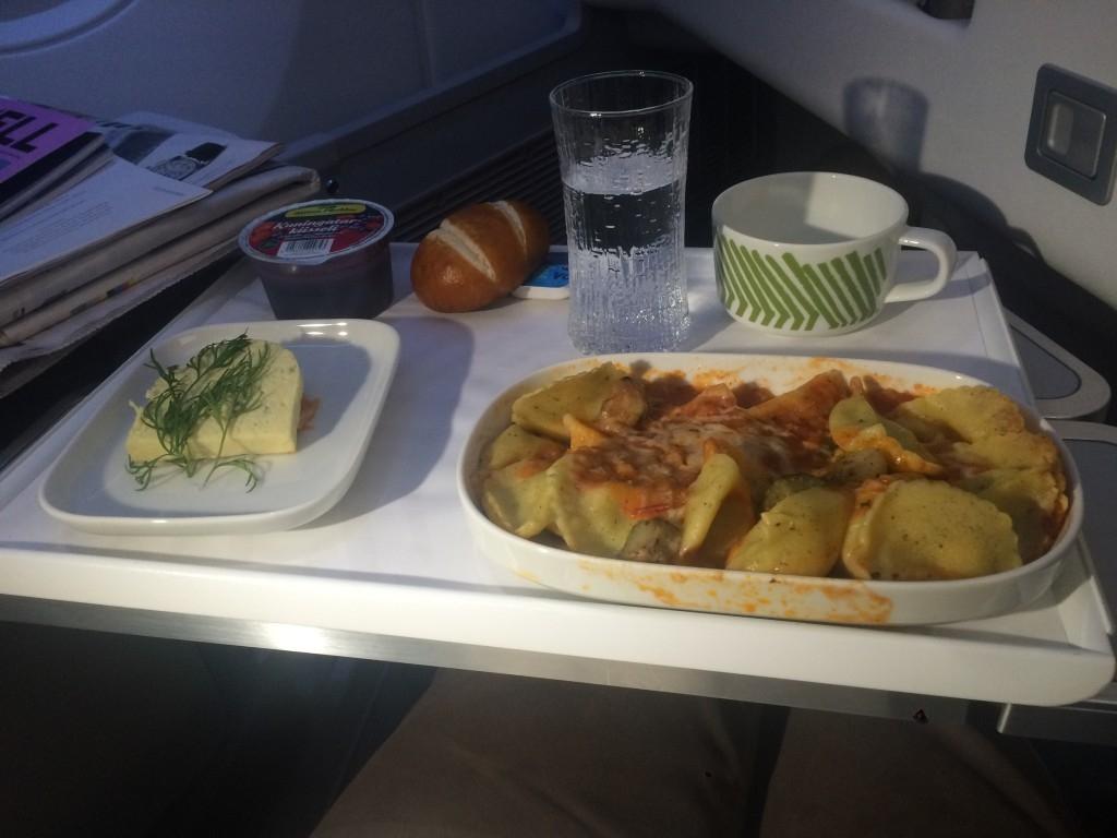 Finnair A350 business class food