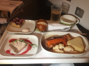 Finnair A350 business class food