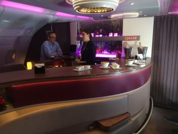 Qatar Airways A380 bar
