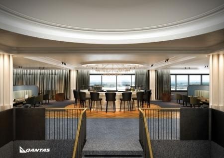Qantas lounge hEATHROW