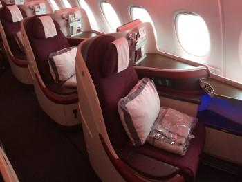 Qatar A380 business class review
