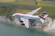 British Airways BA A380 flying