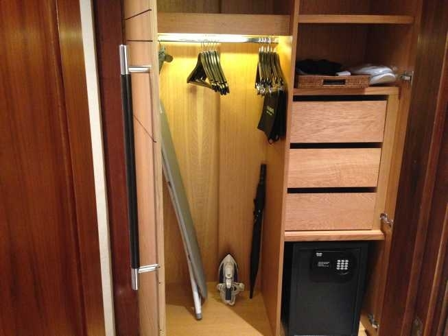 InterCOntinetnal Park Lane room wardrobe safe iron board