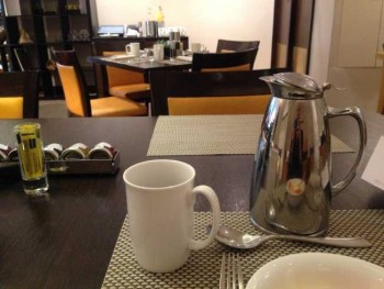 InterContinental Park LAne breakfast table