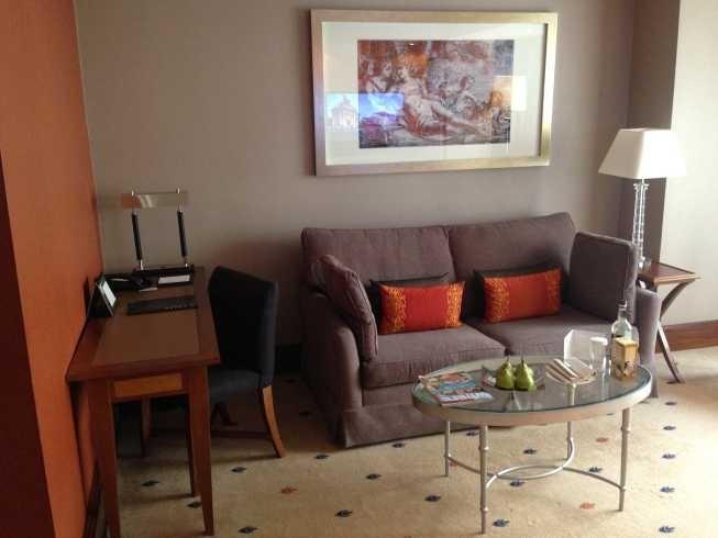 InterContinental Park Lane room living room sofa desk