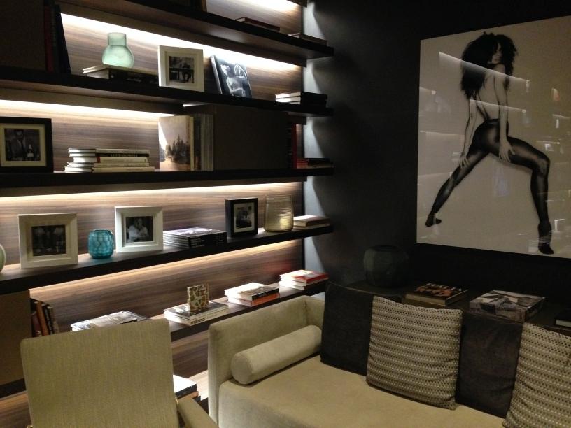 ME Milan reception chillout area books