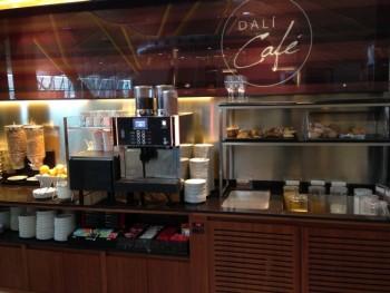 Iberia Dali VIP lounge in Madrid coffee bar