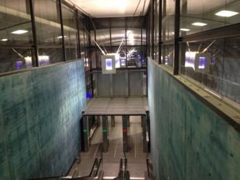 Helsinki Airport train station tracks