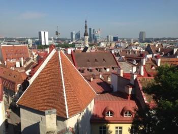 Tallinn city view from viewing platform