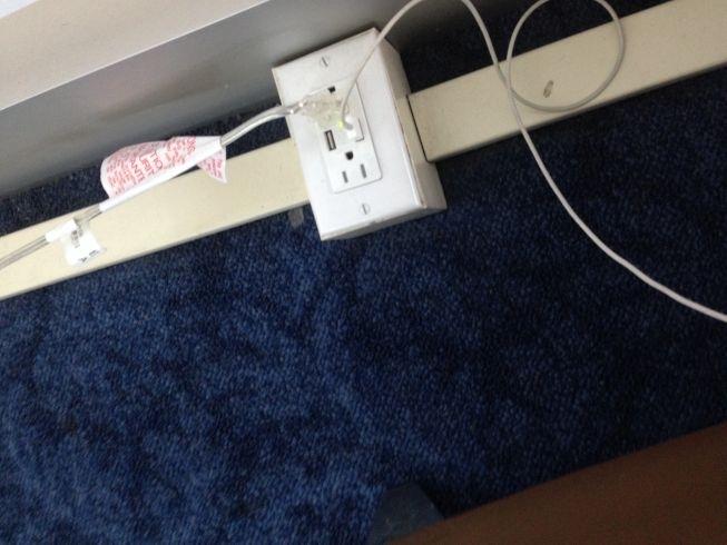 JFK airport new york admirals lounge socket usb socket