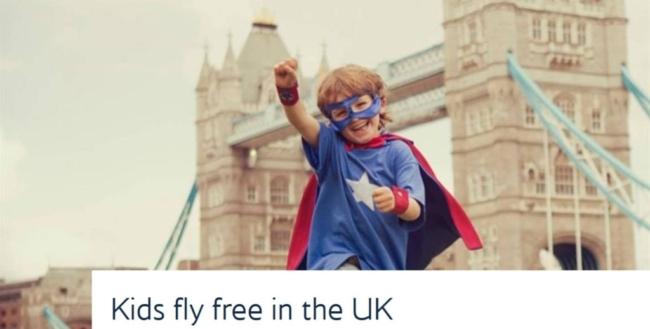 Kids Fly Free British Airways