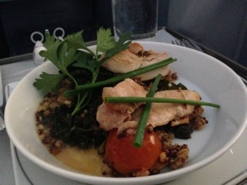 airberlin new york berlin food main pheasant breast
