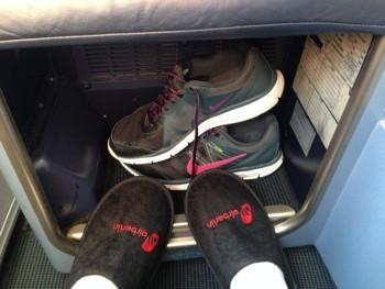 airberlin new york berlin seat storage shoes slippers