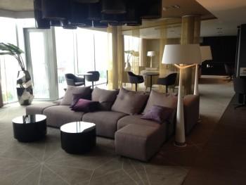 hilton tallinn park review executive lounge sofa area