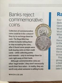 Which? magazine commemorative coins