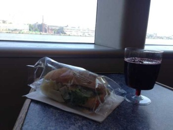 linda line ferry helsinki tallinn wine and sandwich