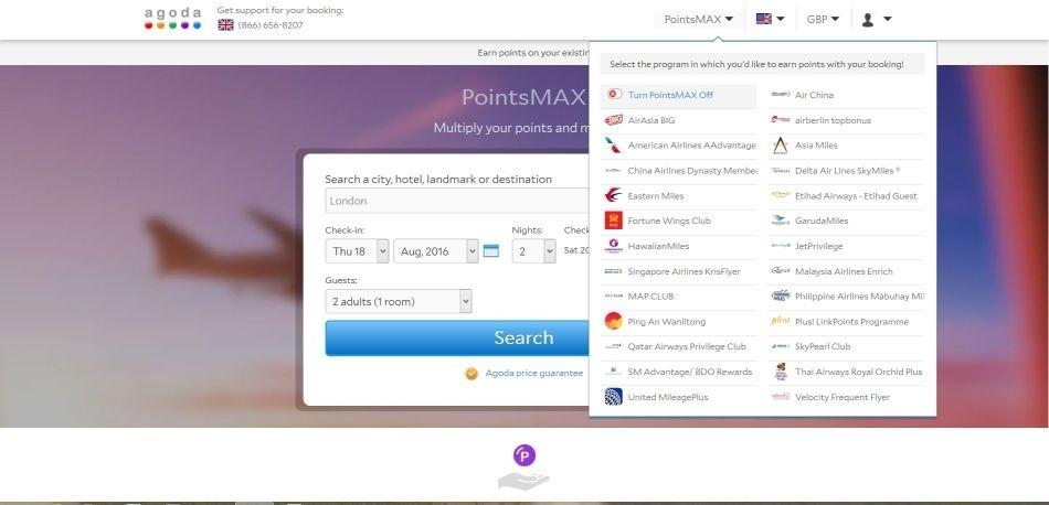 Agoda points max choose loyalty program