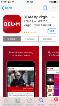 I try out BEAM, the Virgin Trains West Coast on-board