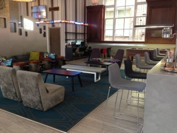 aloft liverpool hotel review bar chill out area