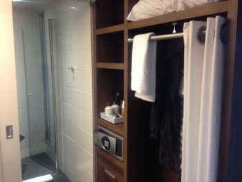 aloft liverpool hotel review room wardrobe towel