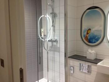 ibis styles heathrow airport review my room bathroom shower