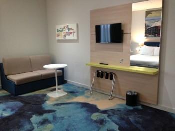 ibis styles heathrow airport review my room sofa