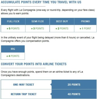 la compagnie my compagnie loyalty scheme