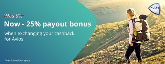 Topcashback Avios conversion bonus