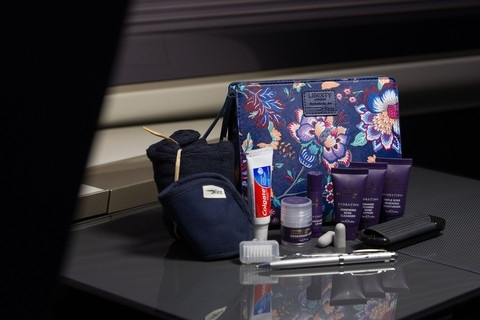 Wash Bags by Liberty of London for British Airways First Class Customers Taken: 21st October 2016 Picture by: Stuart Bailey