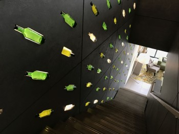 element-by-westin-amsterdam-review-wine-bottle-artwork-staircase