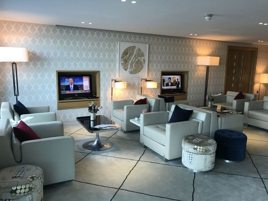 review first class lounge london city airport