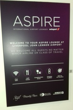 Aspire lounge Liverpool John Lennon Airport review