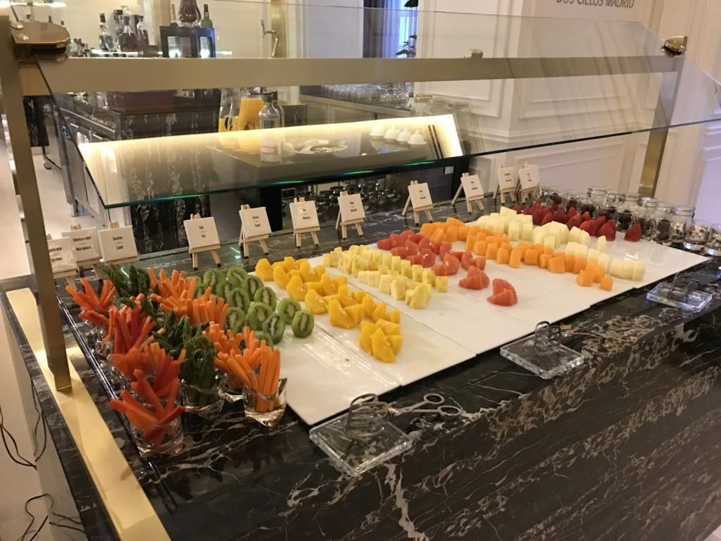 Gran Melia Palacio De Los Duques Madrid Breakfast fruit vegetables