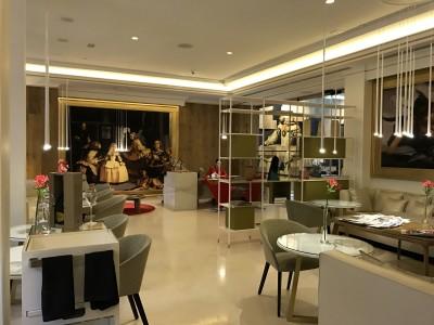 Gran Melia Palacio De Los Duques Madrid Red Level breakfast lounge