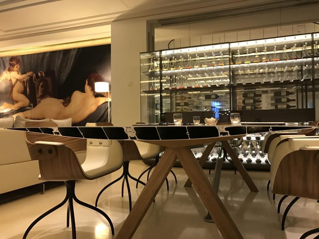 Gran Melia Palacio De Los Duques Madrid painting airplane wing table wine